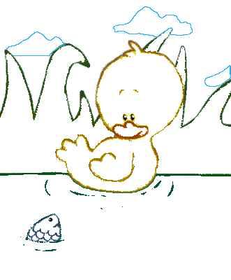 Coloriages petite marre - Canard dessin facile ...